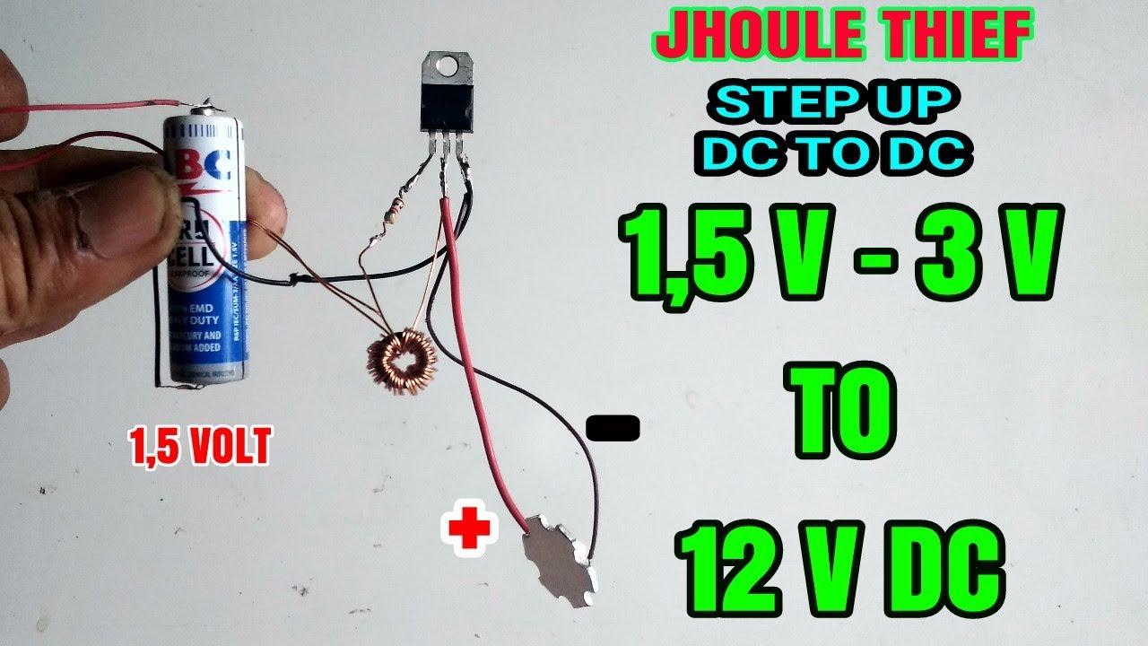 Menaikkan Tegangan 1 5 Volt To 12 Volt Menggunakan Lampu Rusak Youtube