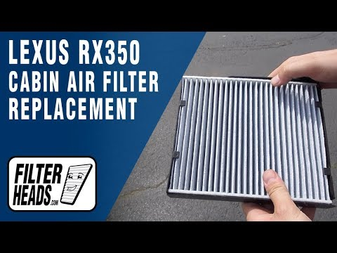 How to Replace Cabin Air Filter 2016 Lexus RX350