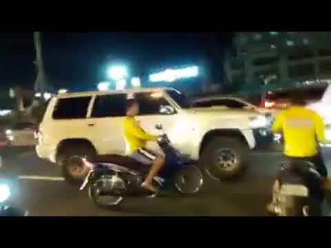 Habulan at Barilan sa Sakay ng Nissan Patrol na walang plaka