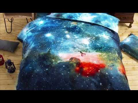 3D Galaxy Bed Cover Warm Blanket Set