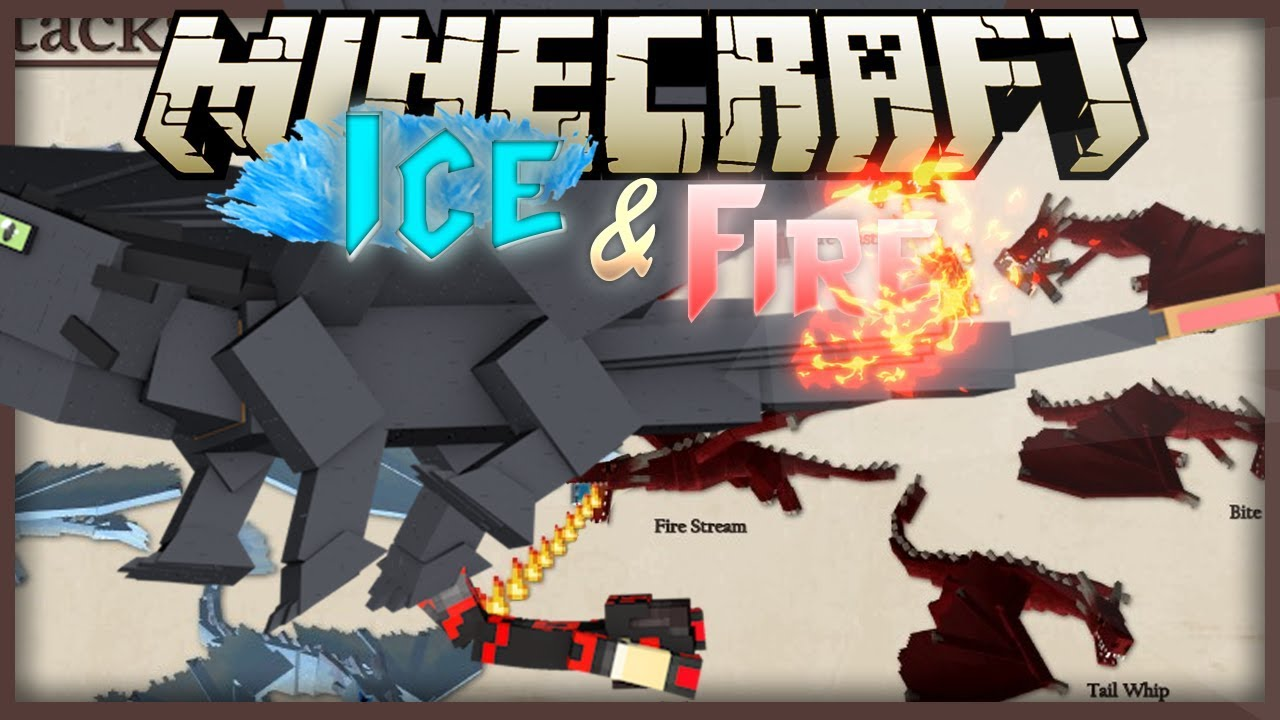 Minecraft: Mod Showcase Ice and Fire Part 1 ROCK THE DRAGON