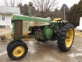1958 John Deere 730 Gas Tractor with 2009 Hours Sold Today on Illinois Auction