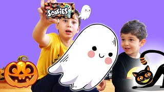 Halloween Funny Video Take Candy from a Kid with Magic Wand Toy