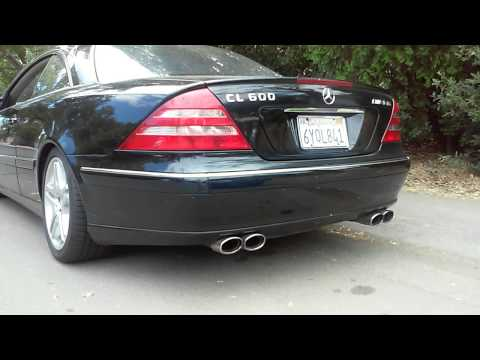 mercedes benz cl600 amg v12 exhaust youtube. Black Bedroom Furniture Sets. Home Design Ideas