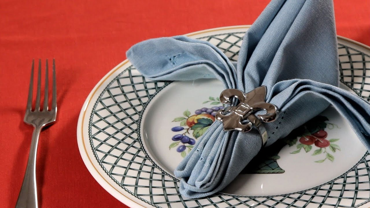 how to fold a napkin into a fleur de lis napkin folding youtube