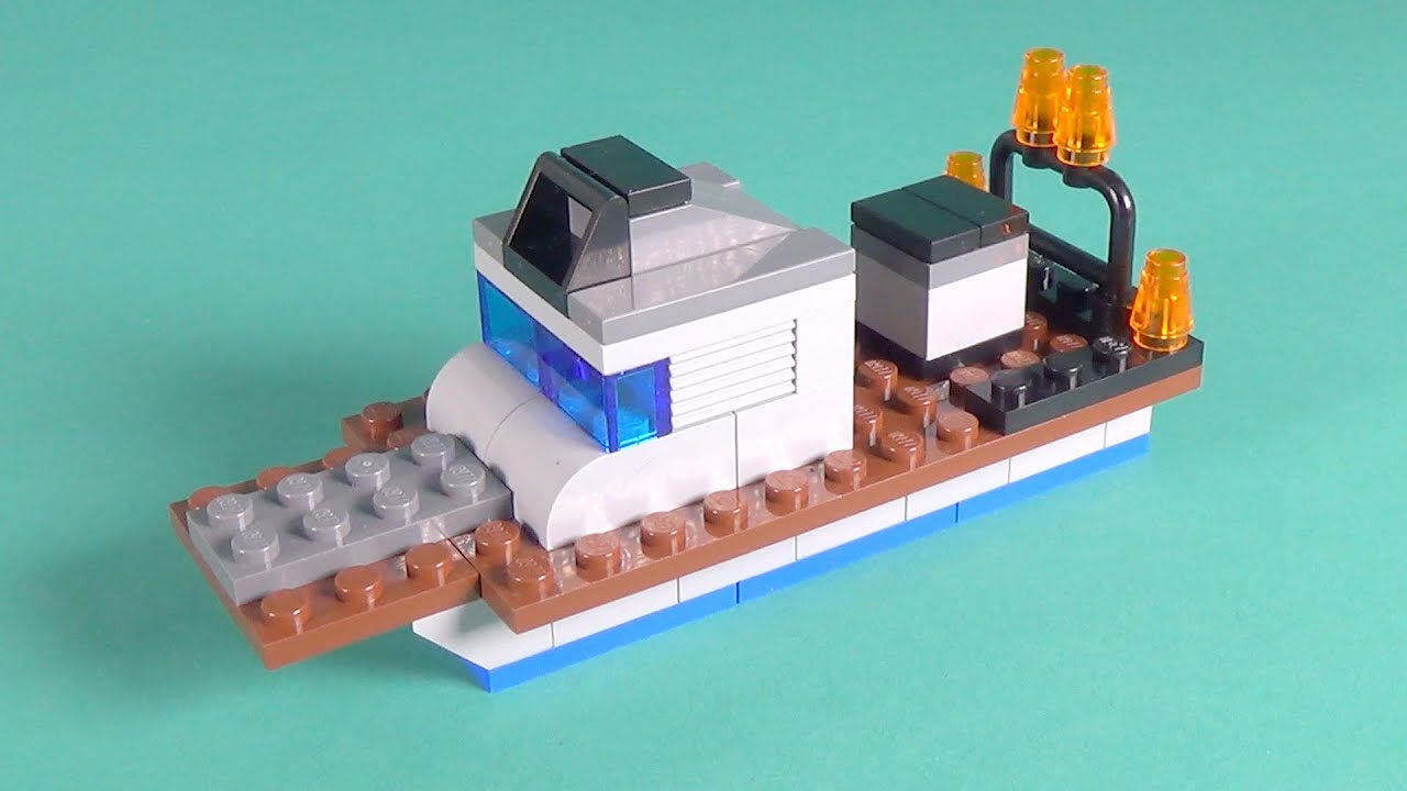 Lego patrol boat building instructions lego classic for Lego classic house instructions