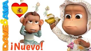 🐵 Canciones Infantiles en Español | Diez en la Cama  | Сanciones Infantiles de Dave y Ava 🐵