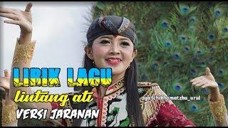Lirik lagu LINTANG ATI versi jaranan samboyo putro