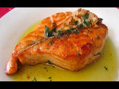 como cocinar salmon en salsa de ajo