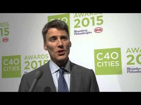 COP21 Interview Series: Vancouver Mayor Gregor Robertson at the C40 Cities Awards in Paris