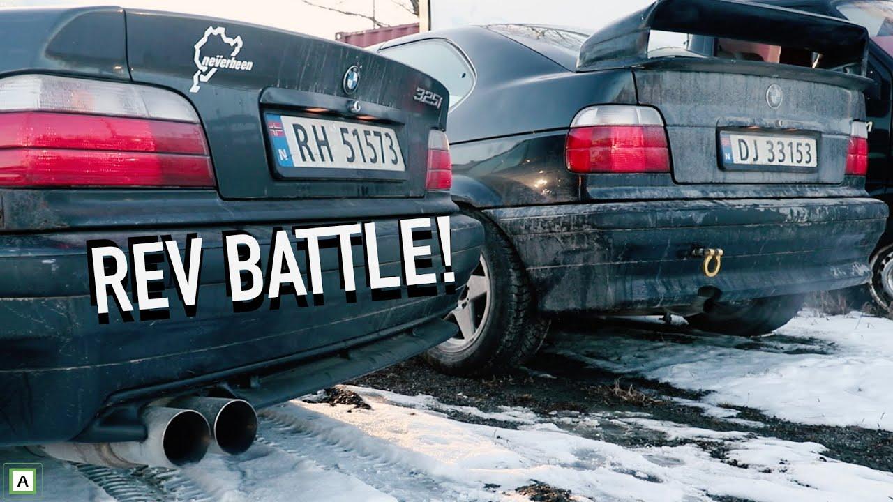 rev battle e36 325i vs e36 316i muffler delete