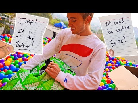 CHRISTMAS PRESENT SCAVENGER HUNT! (HIDDEN IN BALL PIT)