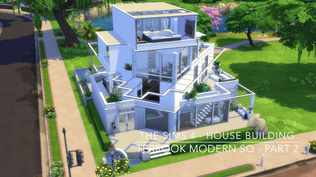 The sims 4 house building terrook modern sq part 2 for Modern house 6 part 2