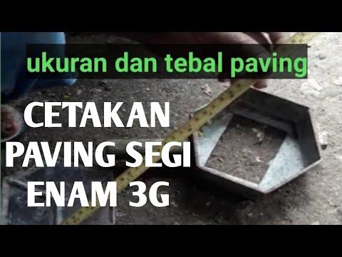 Cetakan paving segi enam 3G - YouTube