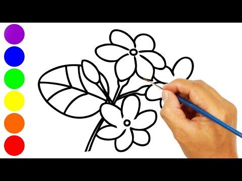 Menggambar Dan Mewarnai Bunga Melati Dengan Glitter Youtube