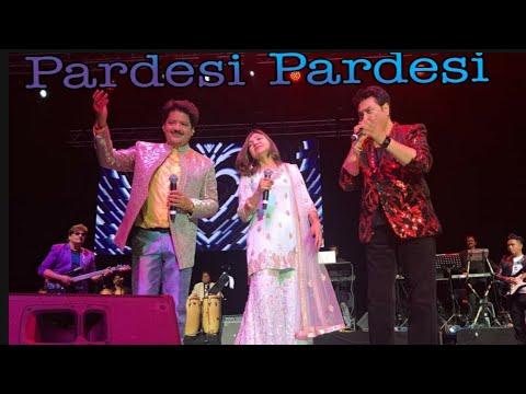 Pardesi Pardesi || Kumar Sanu,Udit Narayan and Alka Yagnik Live Concert || Raja Hindustani || Mp3