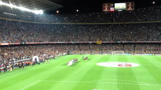 Fc barcelona vs real madrid - supercup 2012 anthem