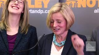 Notley and the Alberta NDP rally in Calgary