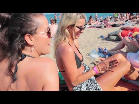 GIRLS GET MIND-FUCKED AT THE BEACH IN BARCELONA!
