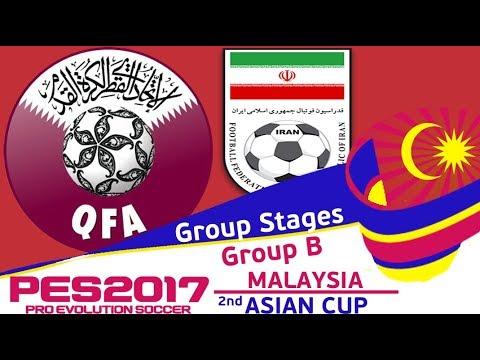 Qatar vs. Iran - 2nd Malaysia Asian Cup - PES2017 - 60fps