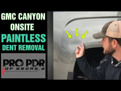Mobile Dent Repair, Fayetteville Ga - Paintless Dent Removal on a 2017 GMC Canyon Bedside with HSS