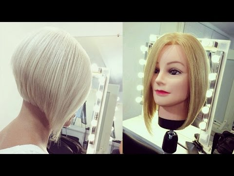 Hairdresser education step by step. Short Bob haircut tutori