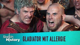 Gladiator mit Heuschnupfen