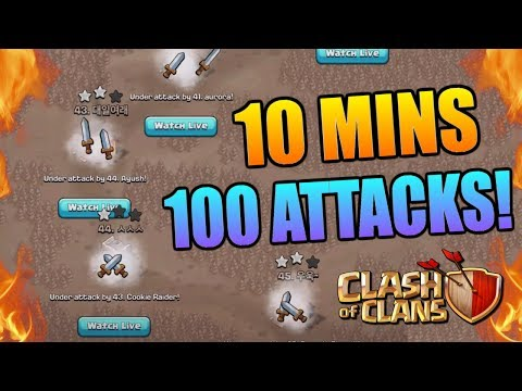 100 ATTACKS IN 10 MINUTES! Can We Win? Clash of Clans Epic Challenge - Amazing CoC Gameplay!!