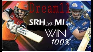 Mumbai Indians vs Sunrisers Hyderabad Dream11