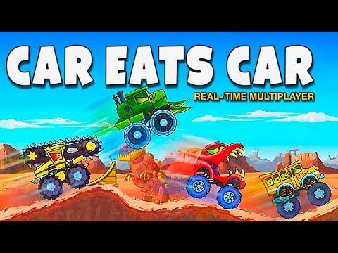 Машина Ест Машину 4 Обзор Новых Хищных Тачек в Режиме Реального Времени - Car Eats Car Multiplayer