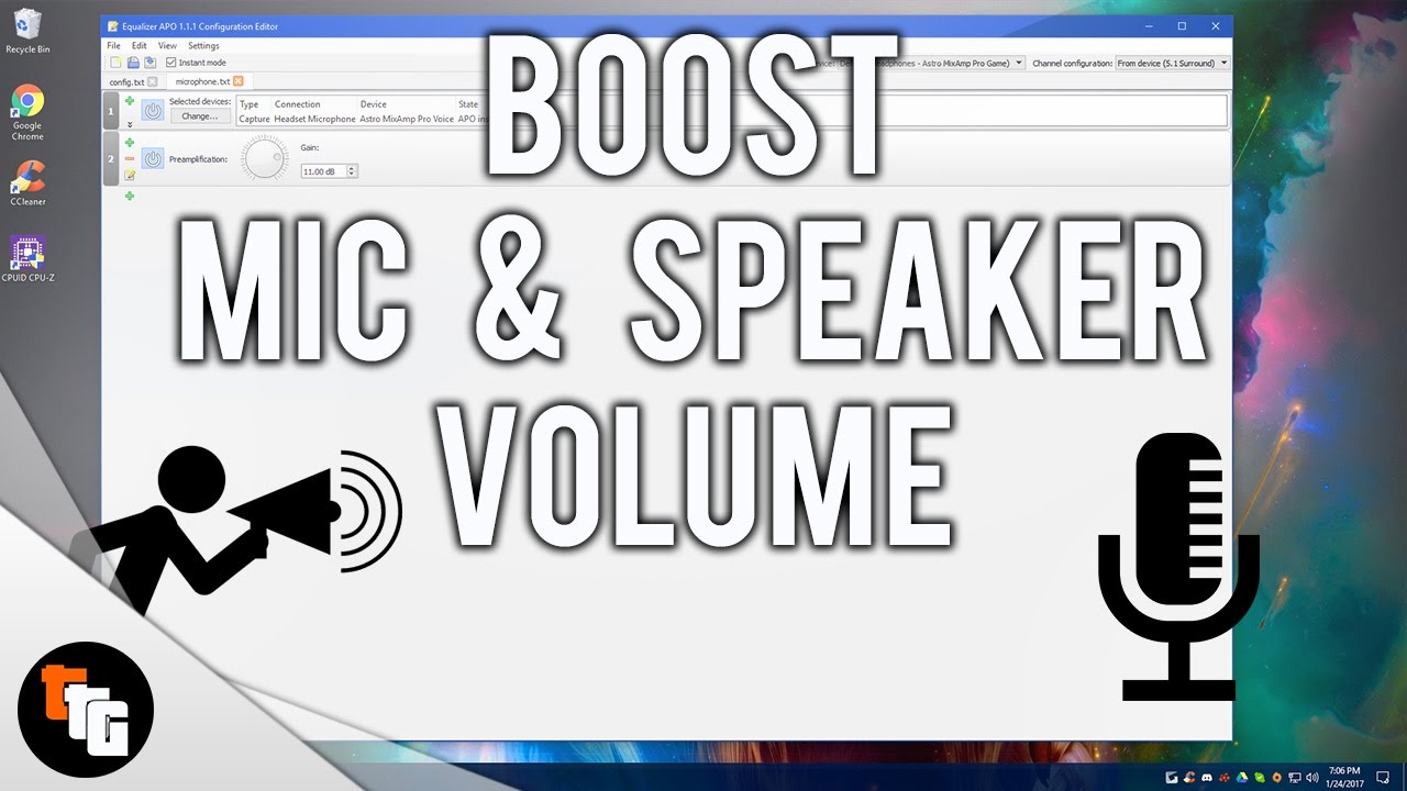 How to Boost Mic & Speaker Volume! 2017
