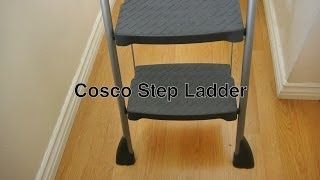 Cosco Ladder 3 Step Work Deck Folding Model W/ Tool Rack Shelf For Home Kitchen / Industrial Use