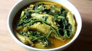 বেলে মাছ দিয়ে আলু পালং শাক রেসিপি/ Palong Shaak Recipe Bengali/Bele Fish Curry