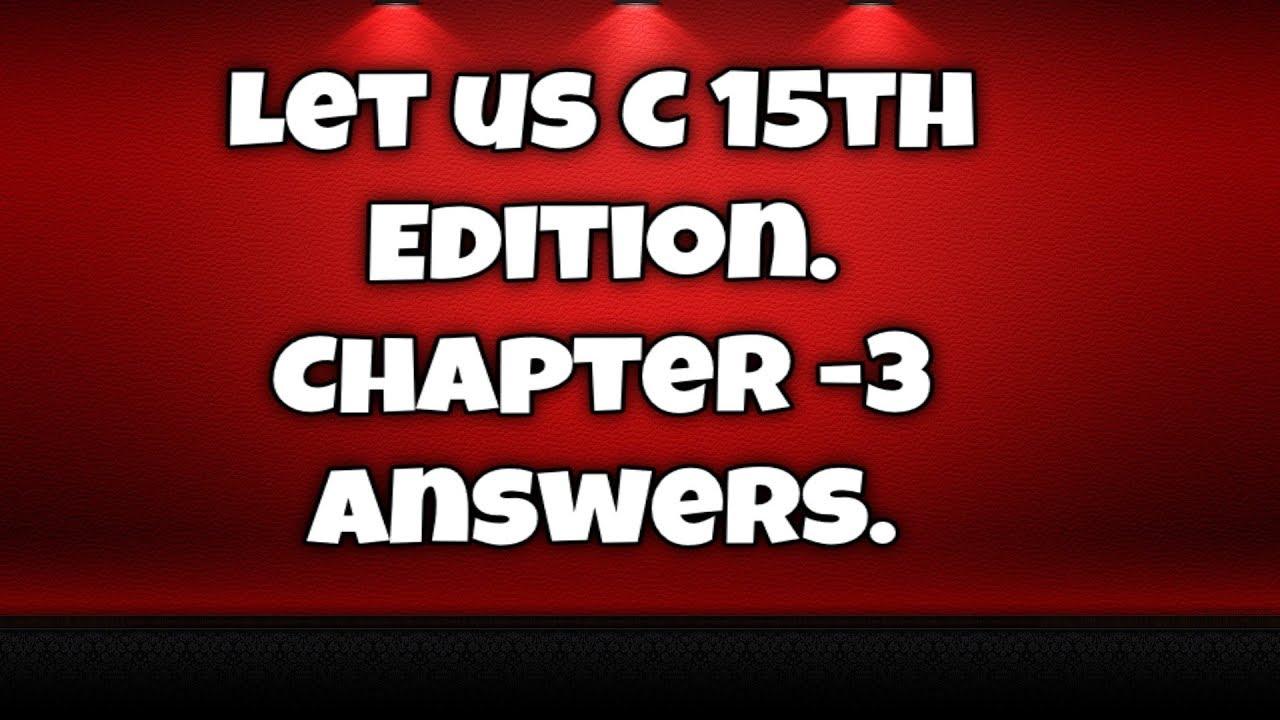LET US C PROGRAMMING PDF - Download NOW!