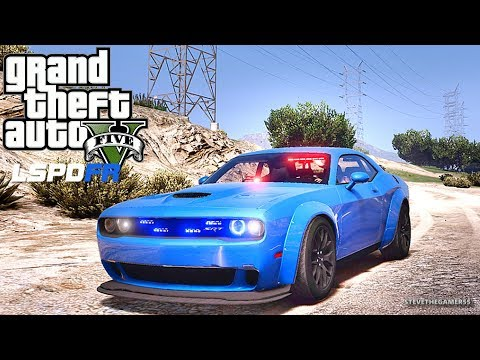 GTA 5 MODS LSPDFR 889 - HELLCAT PATROL!!! (GTA 5 REAL LIFE PC MOD)