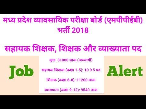 MP Teacher Job Notification 2018. More Creative