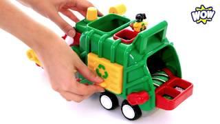 Вывозим мусор! Мусоровоз Фред - WOW TOYS Детские игрушки Kids toys