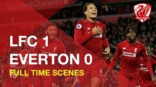Liverpool 1-0 Everton | Full time scenes at Anfield