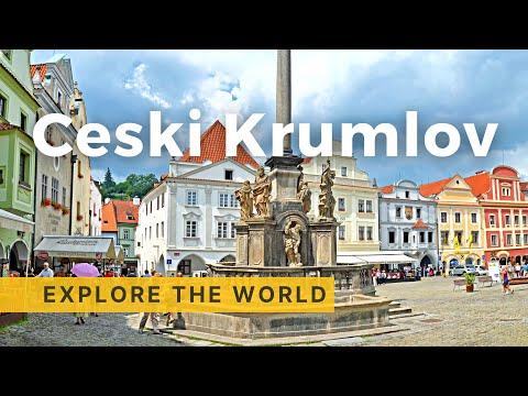 Walking in Cesky Krumlov,  Czech Republic