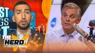 Download Lakers can rebuild with 4th pick, Nick Wright says Warriors are better without KD   NBA   THE HERD Mp3 and Videos