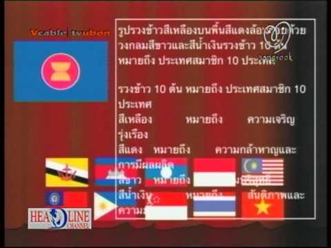 HL อาเซียน 7  ความหมายของสัญลักษณ์ธงอาเซียน