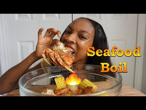 SEAFOOD BOIL MUKBANG + STORYTIME MY TERRIBLE SEAFOOD EXPERIENCE