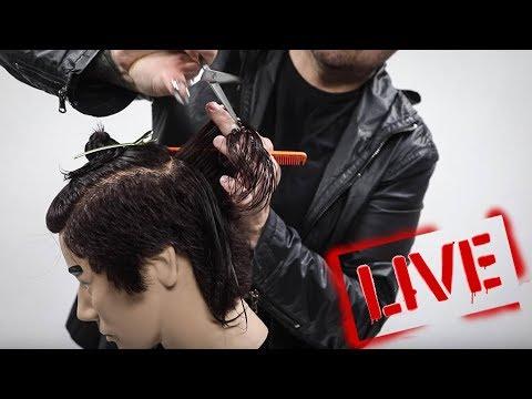 Scissor Only Mens Haircut Tutorial With Matt Beck - LIVE
