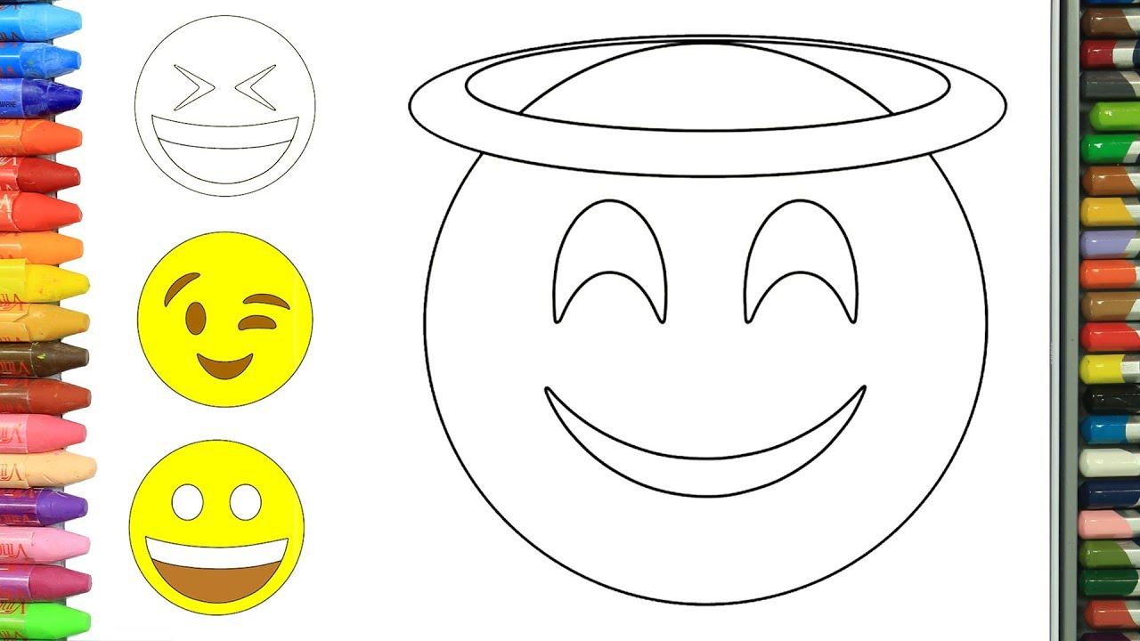 Cara Menggambar Emoji Cara Menggambar Dan Mewarnai TV Anak