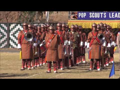 (POP OF BHUTAN SCOUTS)passing out parade of  youth scouts of bhutan..