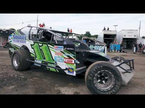 Connor Otten Behind the Wheel at Orange County Fair Speedway