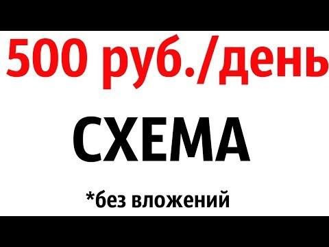 ГОТОВАЯ СХЕМА КАК ЗАРАБАТЫВАТЬ ОТ 500 РУБЛЕЙ В ДЕНЬ В ИНТЕРНЕТЕ БЕЗ ВЛОЖЕНИЙ