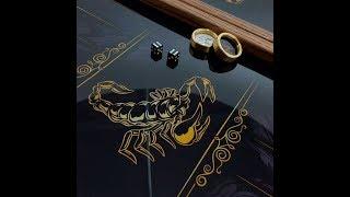 """Нарды """"Скорпион золотистый"""" знак зодиака. Подарок парню на день рождения."""