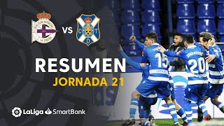 Highlights RC Deportivo vs CD Tenerife (2-1)