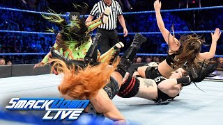 Charlotte Flair, Becky Lynch & Naomi vs. The Riott Squad: SmackDown LIVE, Feb. 20, 2018